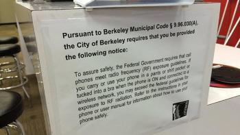 Berkeley cellphone notice in store